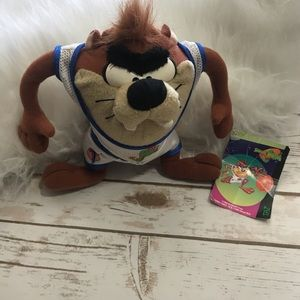 Space Jam Looney Tunes TAZ Stuffed Animal Plush